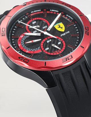 Scuderia Ferrari Online Store - Pista 多機能ウォッチ ブラック レッドベゼル - クオーツ時計
