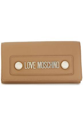 LOVE MOSCHINO محفظة من الجلد الاصطناعي مزينة بشعار الماركة