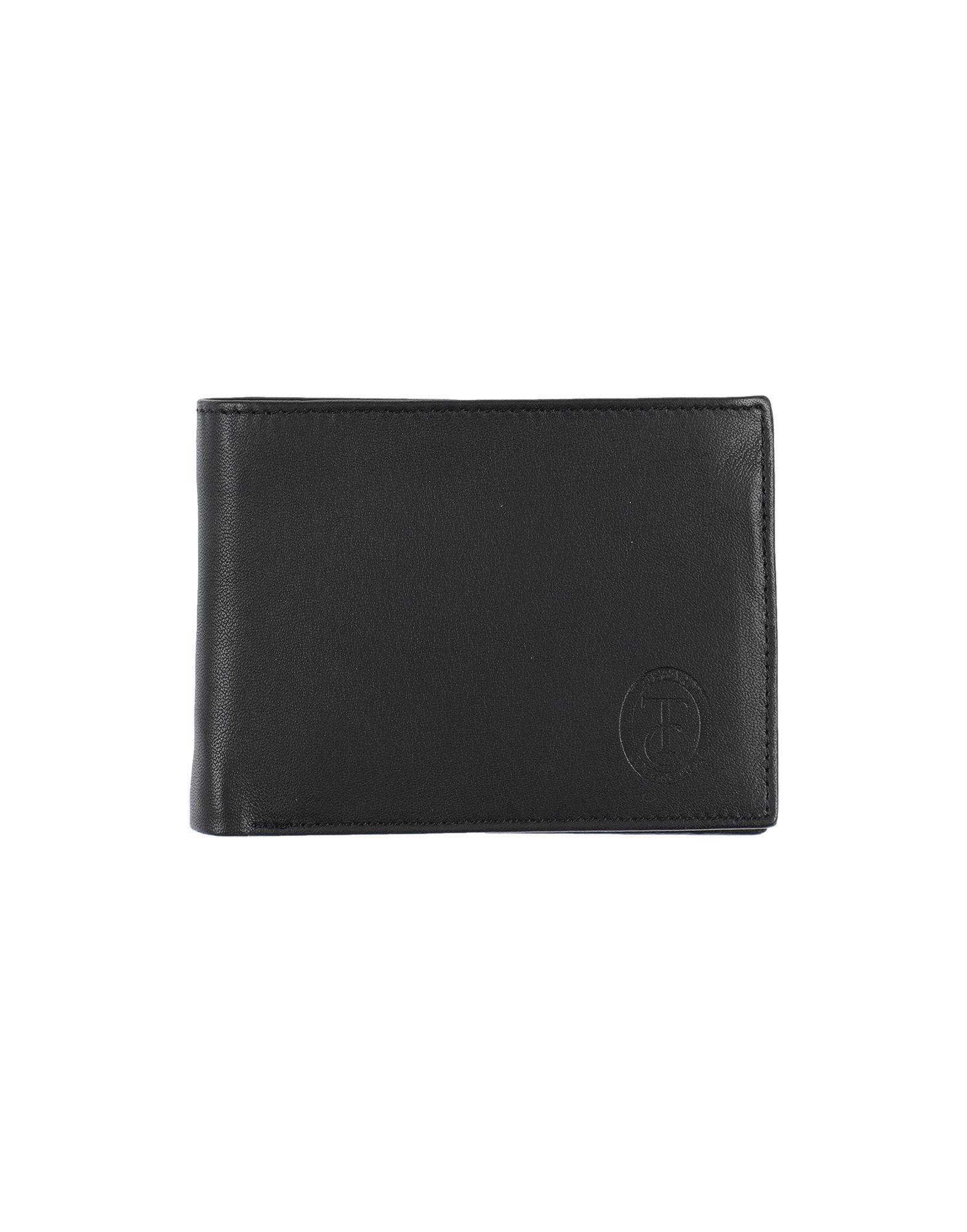 《セール開催中》TRUSSARDI COLLECTION メンズ 財布 ブラック 革