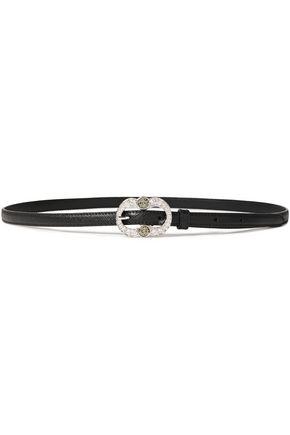 PRADA حزام من الجلد النافر مزين بالكريستال