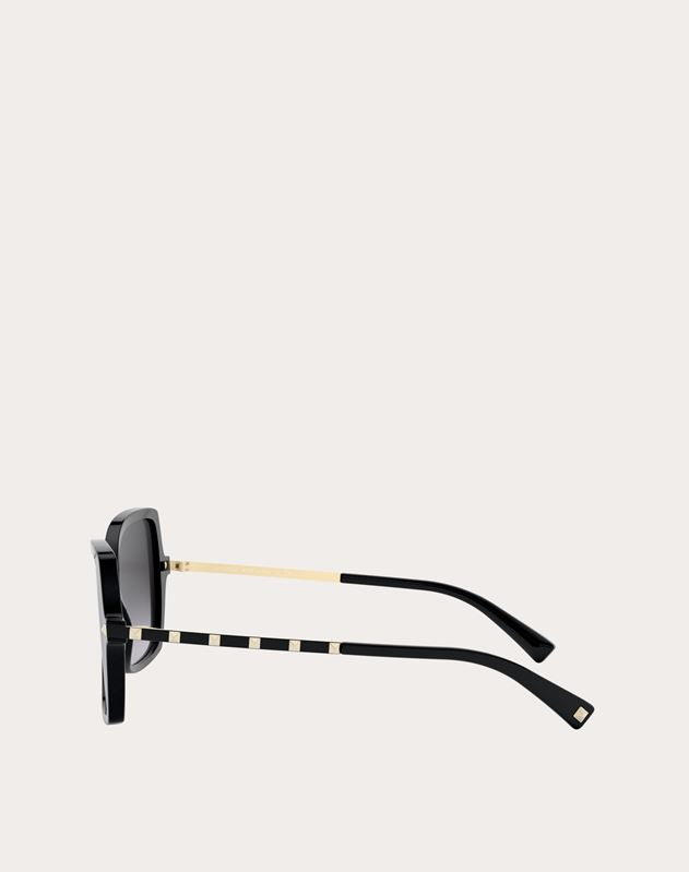 SQUARED ACETATE FRAME WITH STUDS