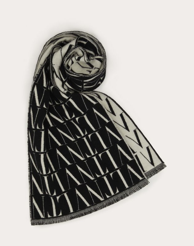VLTN TIMES scarf in wool and cashmere
