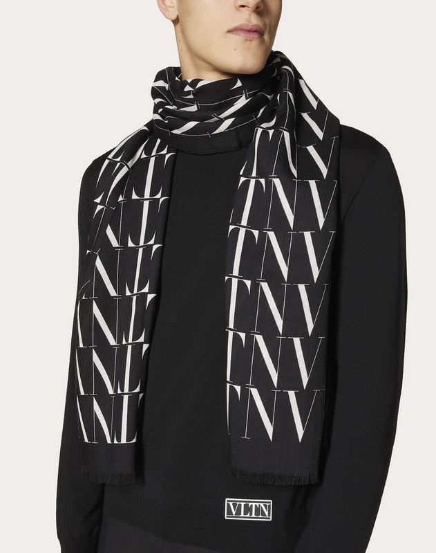 VLTN TIMES scarf in wool and silk