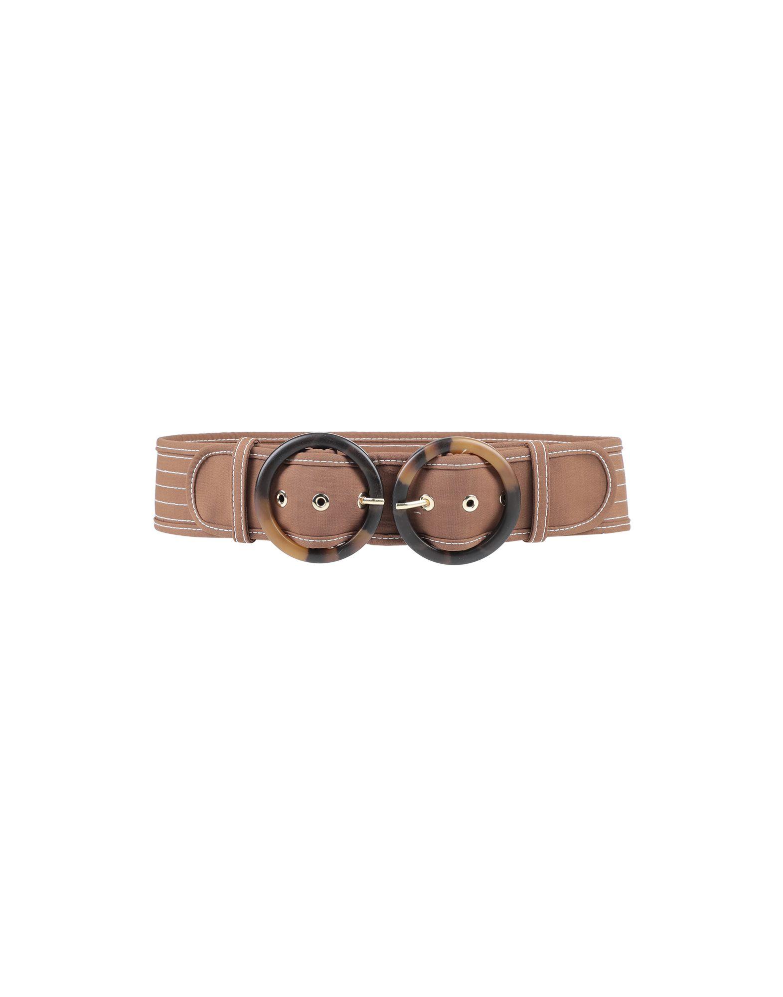 ZIMMERMANN Belts. plain weave, no appliqués, buckle fastening, fully lined, wide. Textile fibers