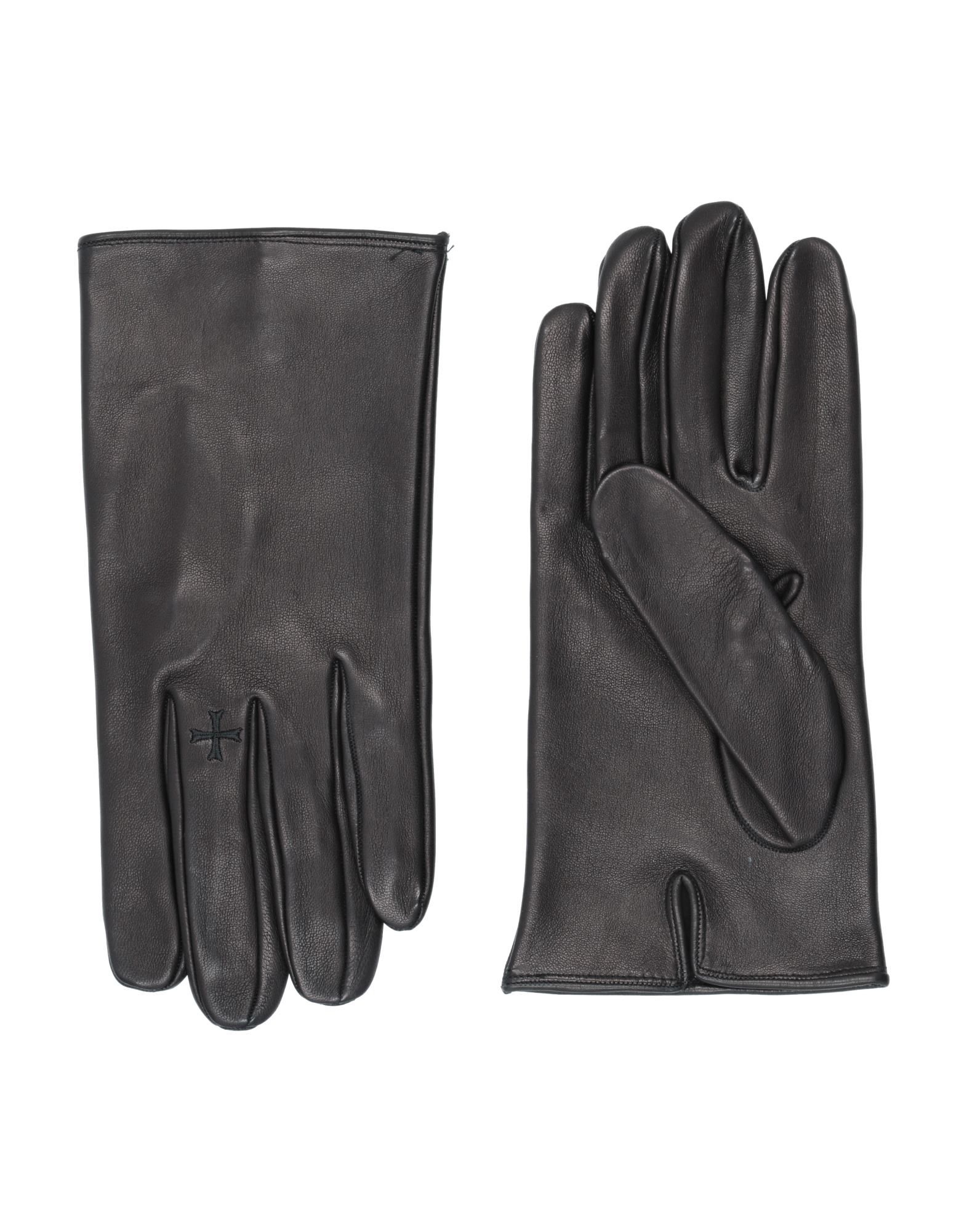 NEIL BARRETT Gloves. leather, no appliqués, basic solid color, contains non-textile parts of animal origin. Soft Leather