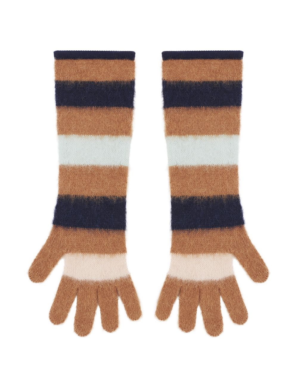 LONG STRIPED GLOVES IN CASHMERE BLEND  - Lanvin