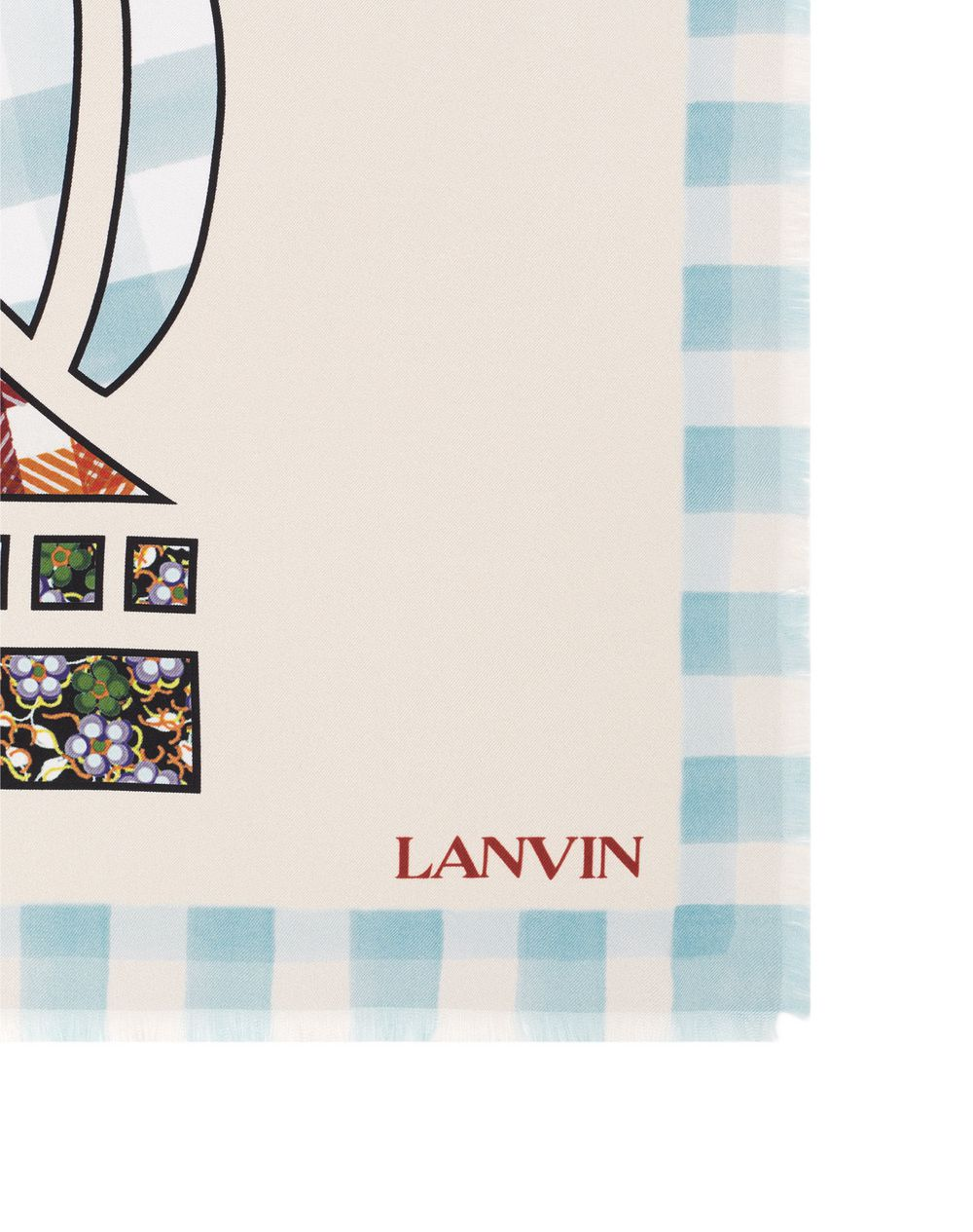 MOTHER AND CHILD PRINT SILK SQUARE SCARF - Lanvin