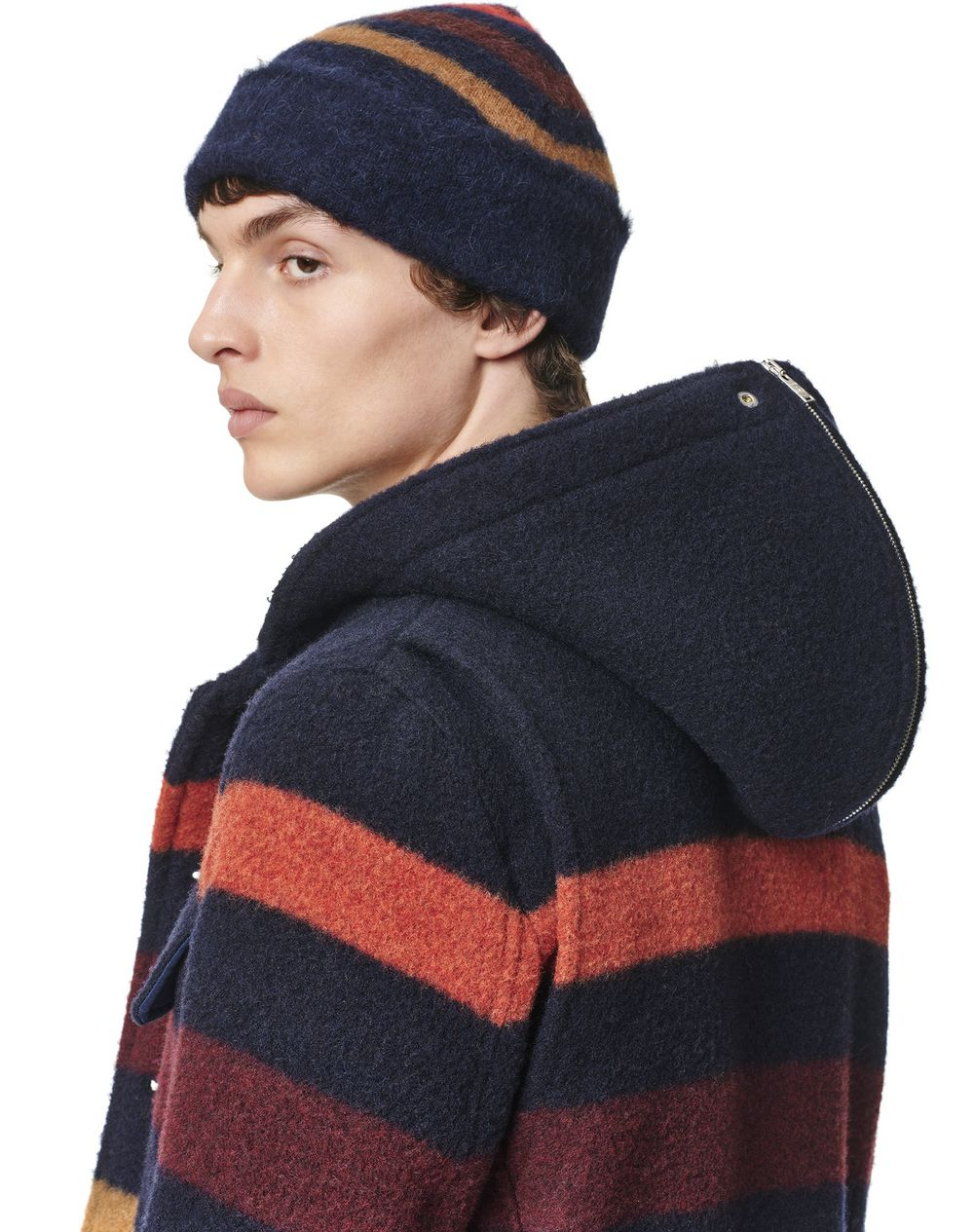 STRIPED HAT IN CASHMERE BLEND - Lanvin