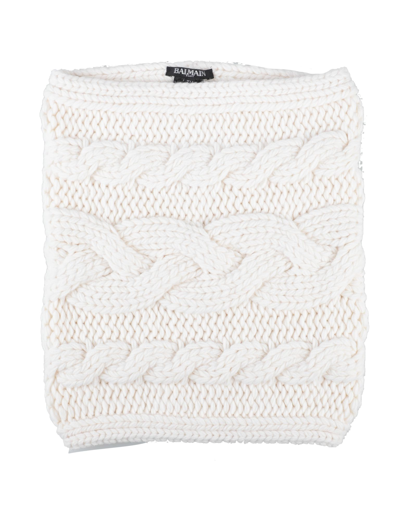 BALMAIN Collars. knitted, solid color, medium-weight knit. 100% Wool