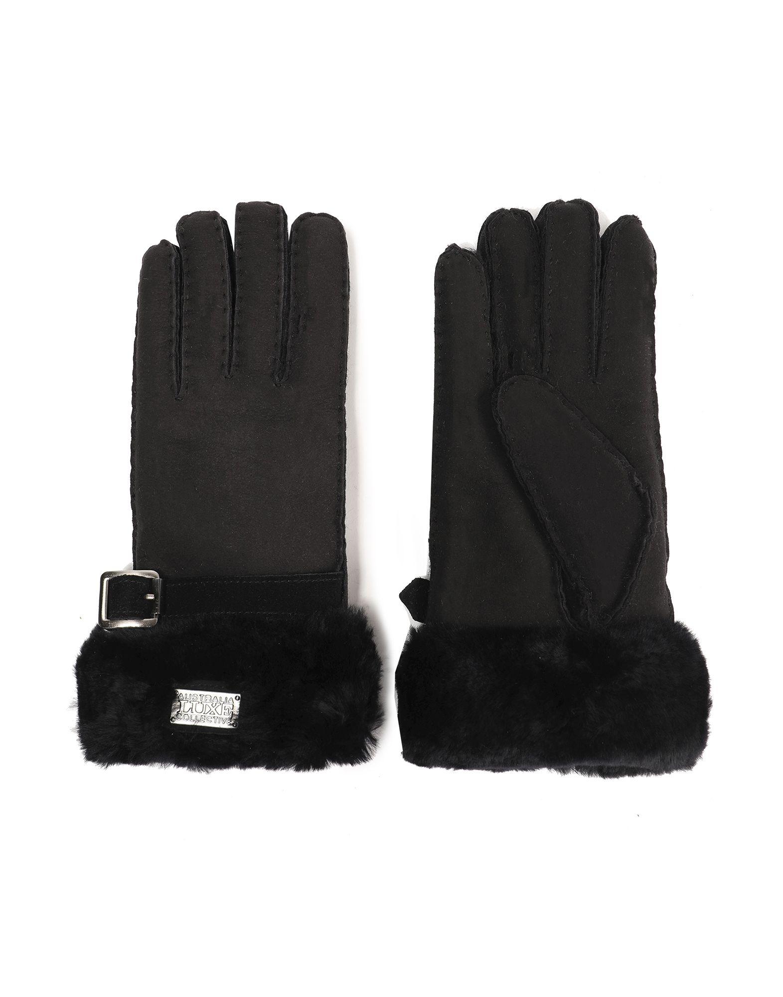 《セール開催中》AUSTRALIA LUXE COLLECTIVE レディース 手袋 ブラック S リアルファー