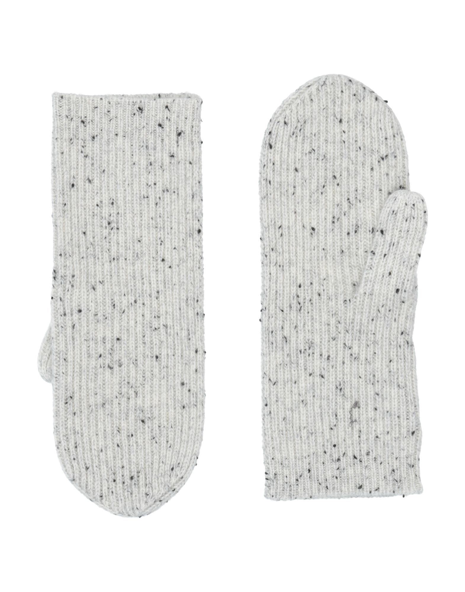 ISABEL MARANT Gloves. knitted, no appliqués, mélange, multicolor pattern. 100% Cashmere
