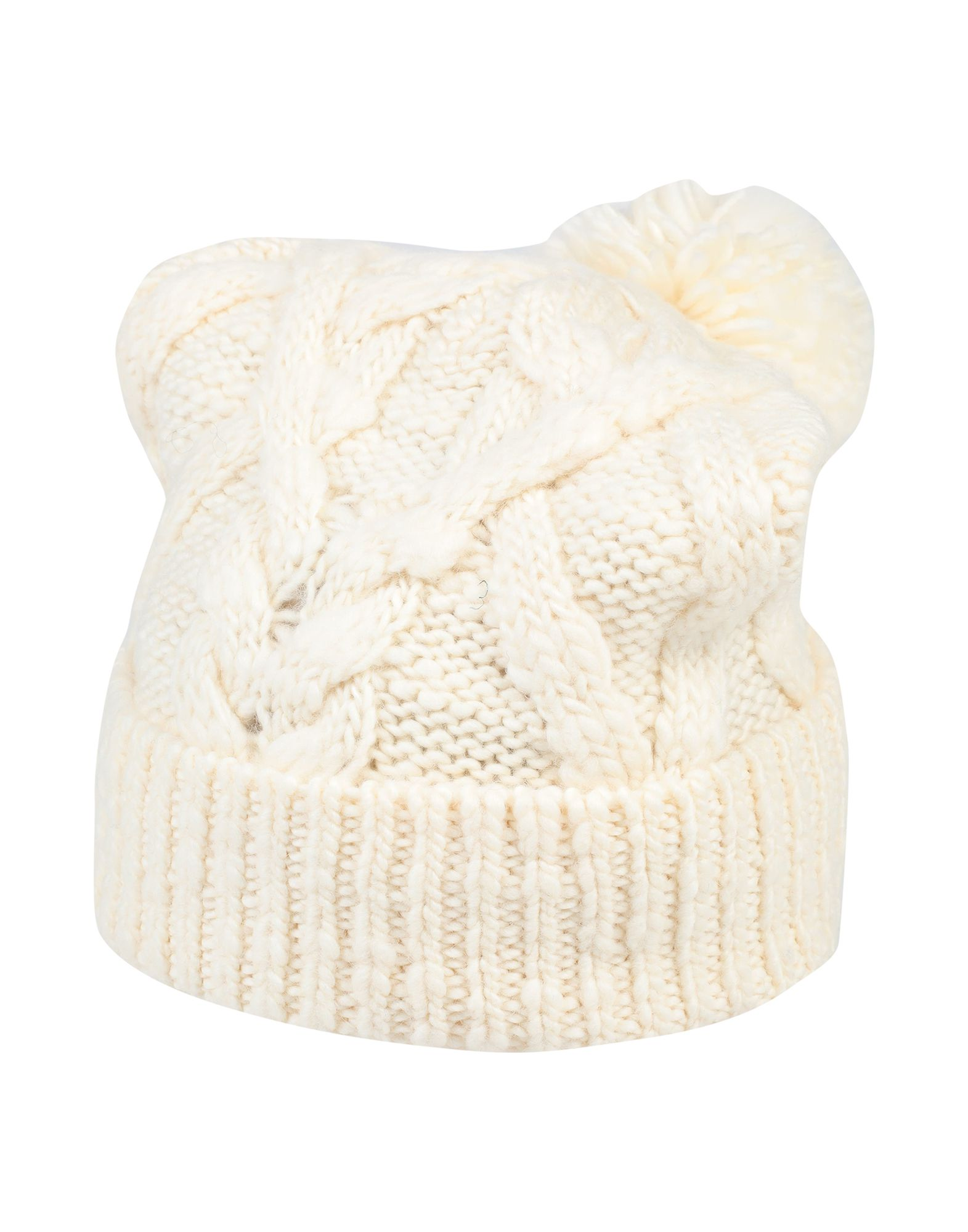 ISABEL MARANT Hats. knitted, contrasting applications, basic solid color. 100% Wool