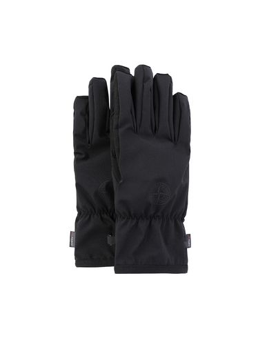 STONE ISLAND 92429 SOFT SHELL-R Gloves Man Black USD 185