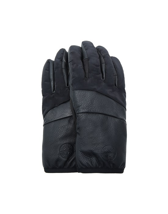 STONE ISLAND 92774 LEATHER/NYLON METAL Gants Homme Noir