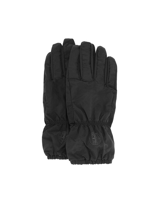 STONE ISLAND 92077 NYLON METAL Gloves Man Black