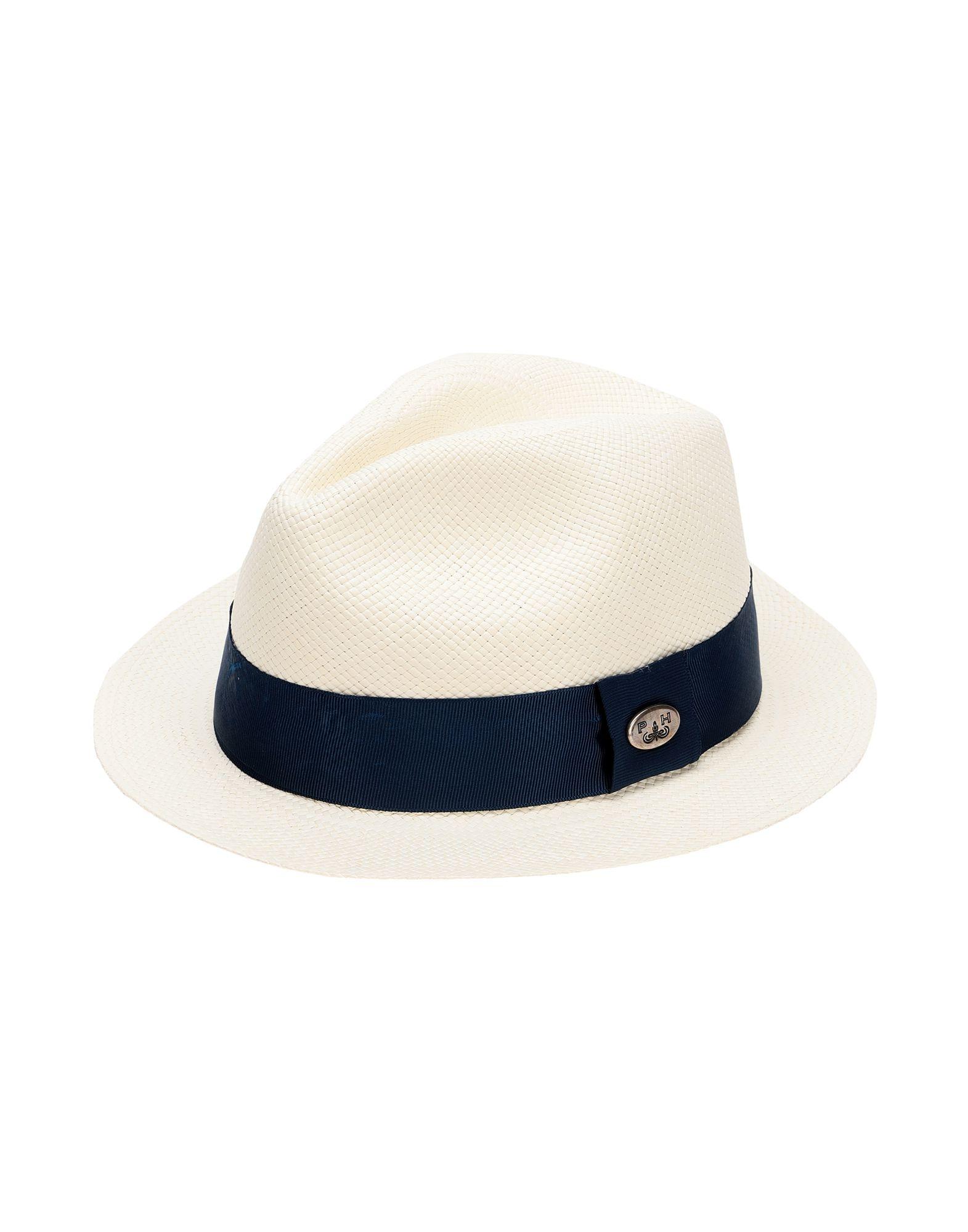 《セール開催中》PANAMA HATTERS Unisex 帽子 ホワイト L ストロー 100% MIAMI BEACH WHITE NIGHT BLUE +TRAVEL BAG