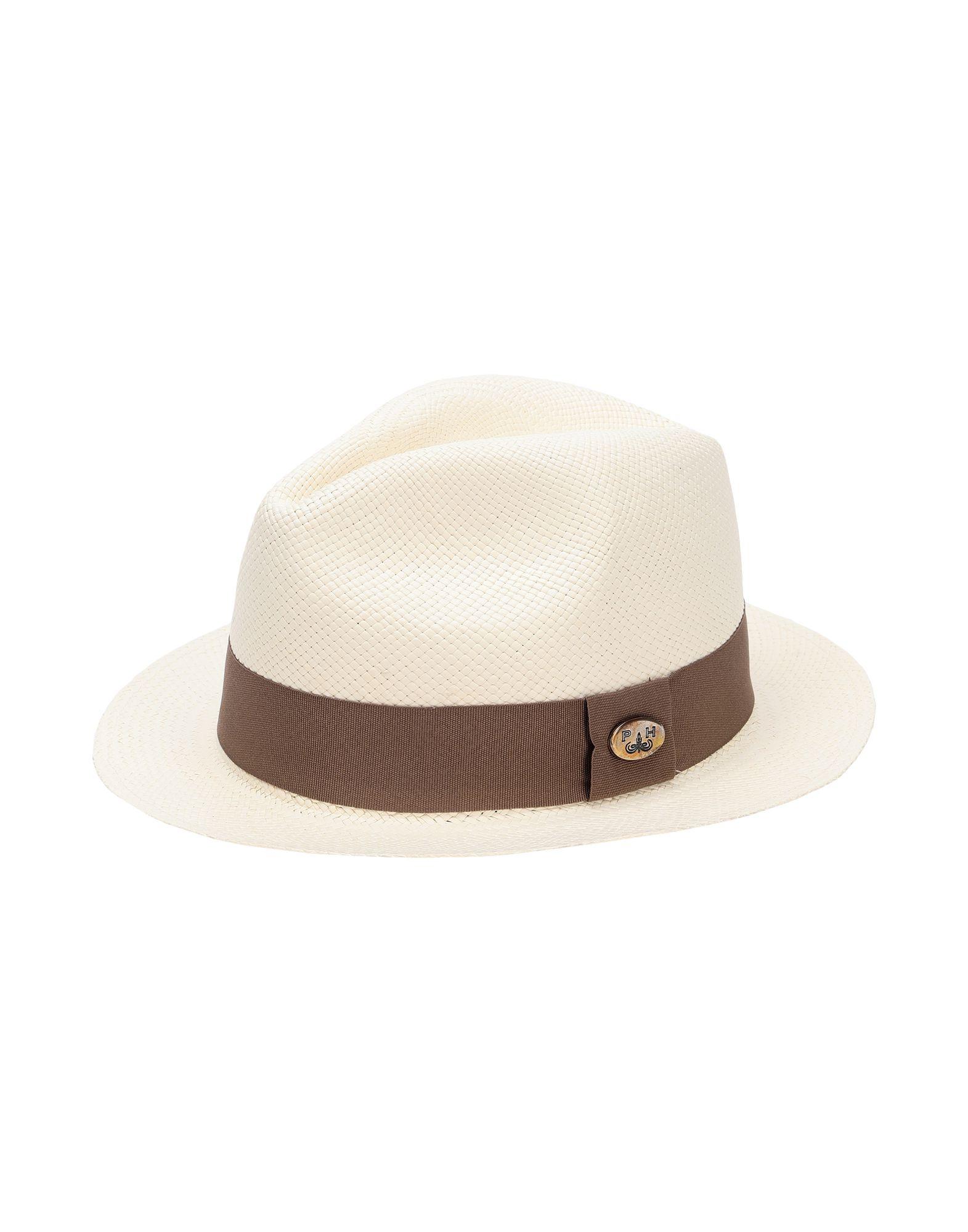 《セール開催中》PANAMA HATTERS Unisex 帽子 ホワイト XL ストロー 100% MIAMI BEACH WHITE CHAMPAGNE +TRAVEL BAG
