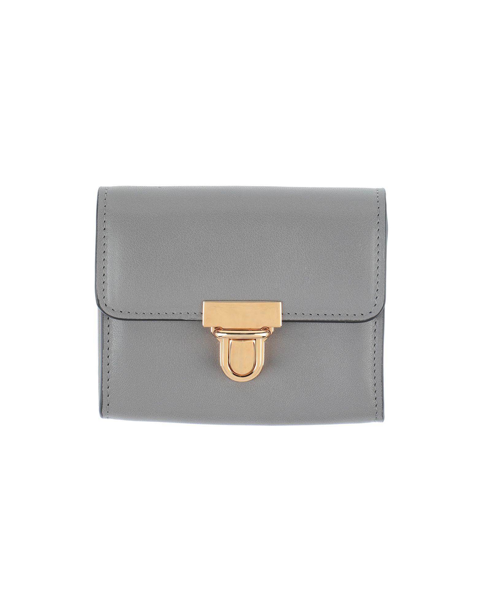 《セール開催中》MARNI レディース 財布 グレー 牛革 97% / 真鍮/ブラス 3%