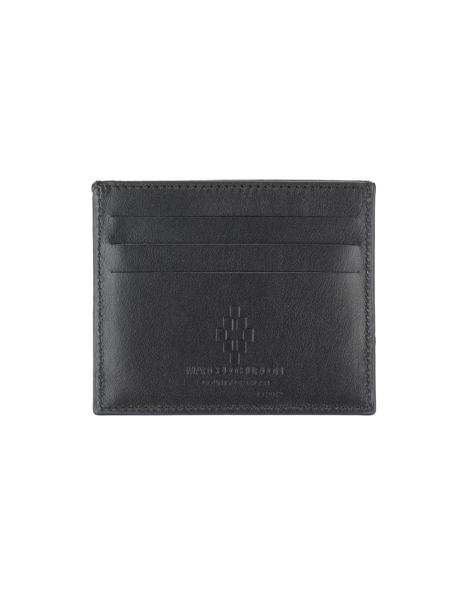 MARCELO BURLON Document holders. leather, logo, print, solid color, internal card slots, contains non-textile parts of animal origin. Soft Leather