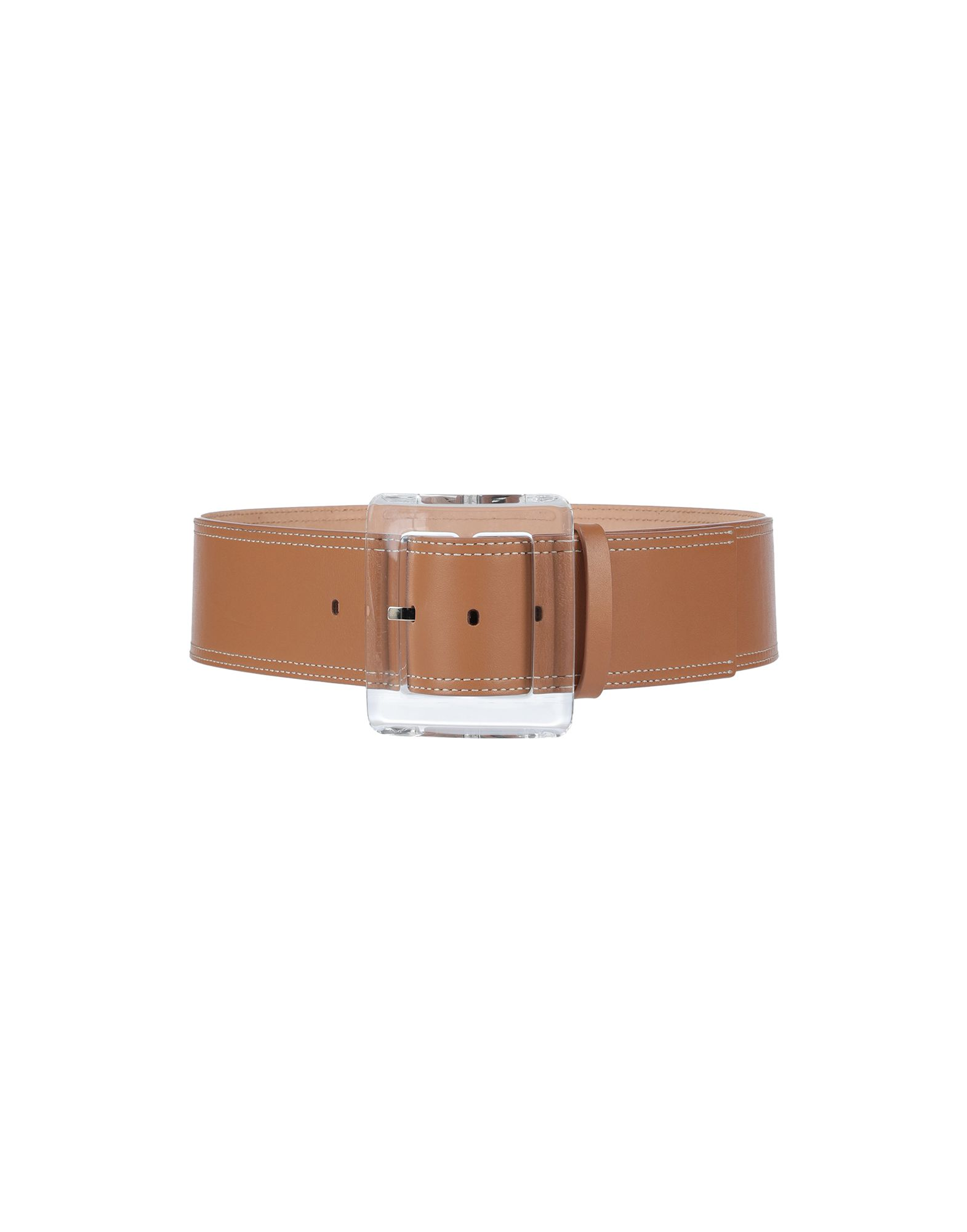 VERONICA BEARD Belts. no appliqués, basic solid color, wide, buckle fastening, contains non-textile parts of animal origin. Soft Leather