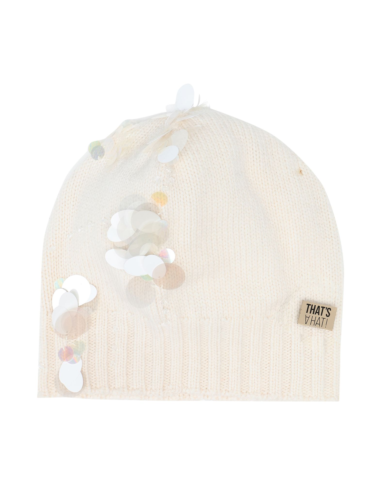 《セール開催中》THAT'S? HAT! レディース 帽子 アイボリー XL ウール 70% / カシミヤ 30%