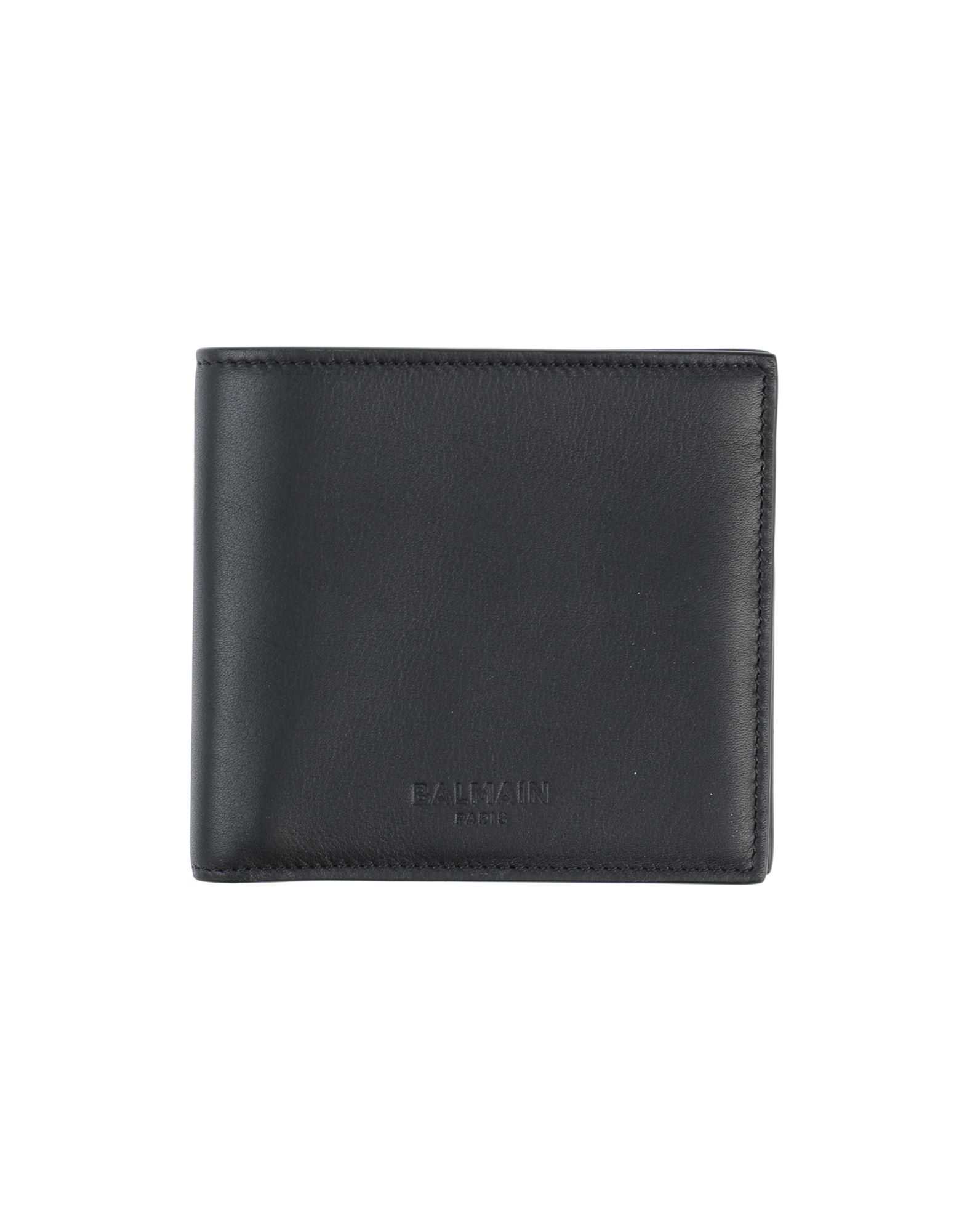 BALMAIN Wallets. leather, logo, solid color, leather lining, internal card slots, internal pocket, contains non-textile parts of animal origin. Soft Leather