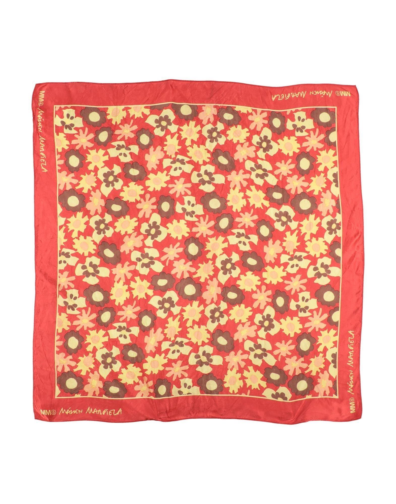 MM6 MAISON MARGIELA Square scarves. satin, no appliqués, floral design. 100% Viscose
