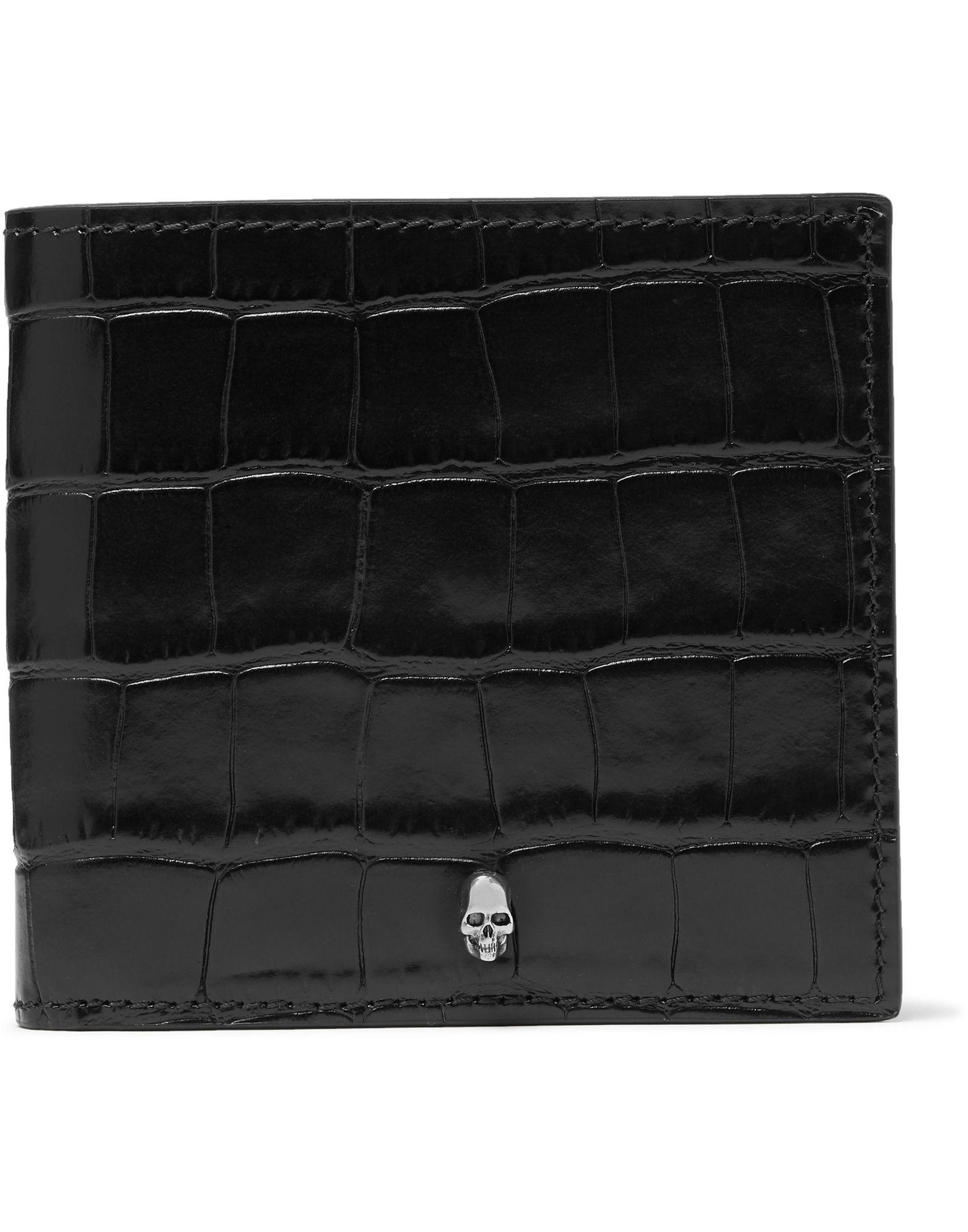 《セール開催中》ALEXANDER MCQUEEN メンズ 財布 ブラック 革