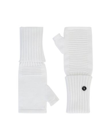 STONE ISLAND SHADOW PROJECT N02A3 EXTENDABLE HAND GAITER  Gloves Man Natural White USD 230