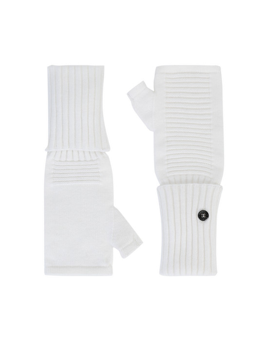 STONE ISLAND SHADOW PROJECT N02A3 EXTENDABLE HAND GAITER  Gloves Man Natural White