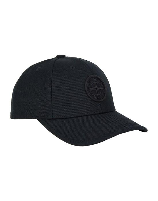 STONE ISLAND JUNIOR 91263 Cap Man Black
