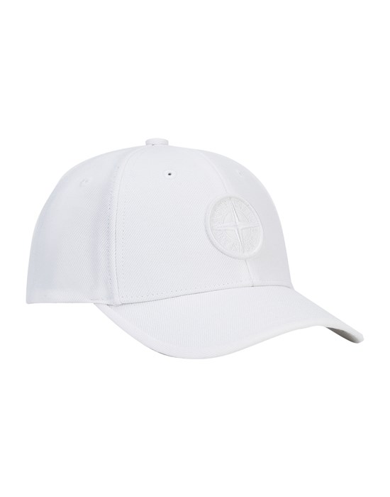 STONE ISLAND JUNIOR 91263 Cap Man White