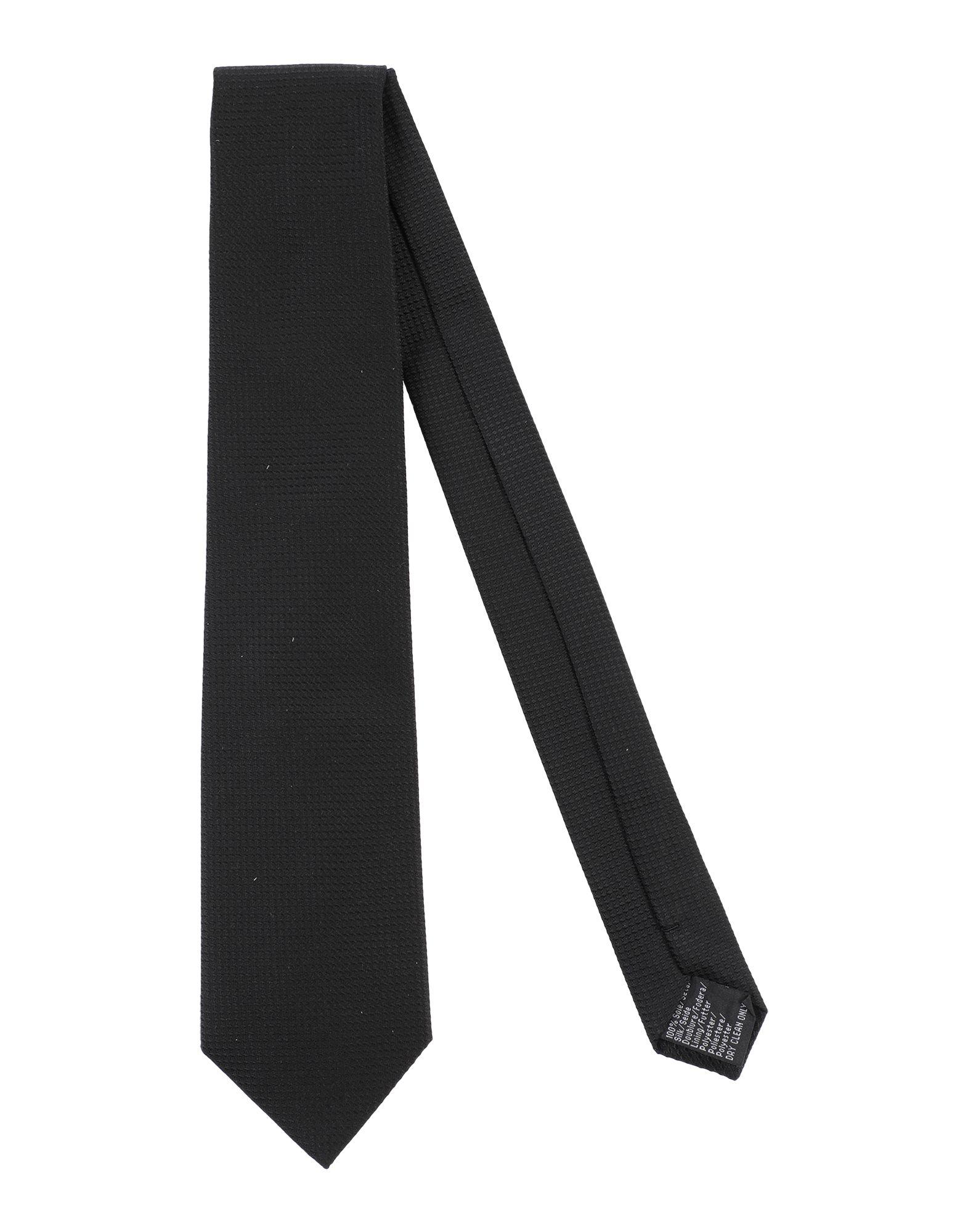 《セール開催中》LAB. PAL ZILERI メンズ ネクタイ ブラック シルク 100%