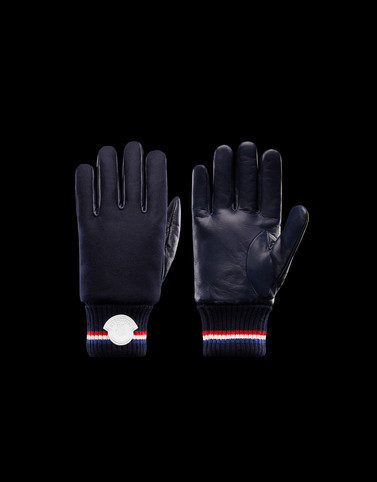 GLOVES Dark blue Scarves & Gloves Man