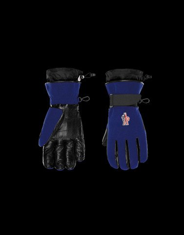 SKI GLOVES Blue Grenoble Scarves & Gloves Man