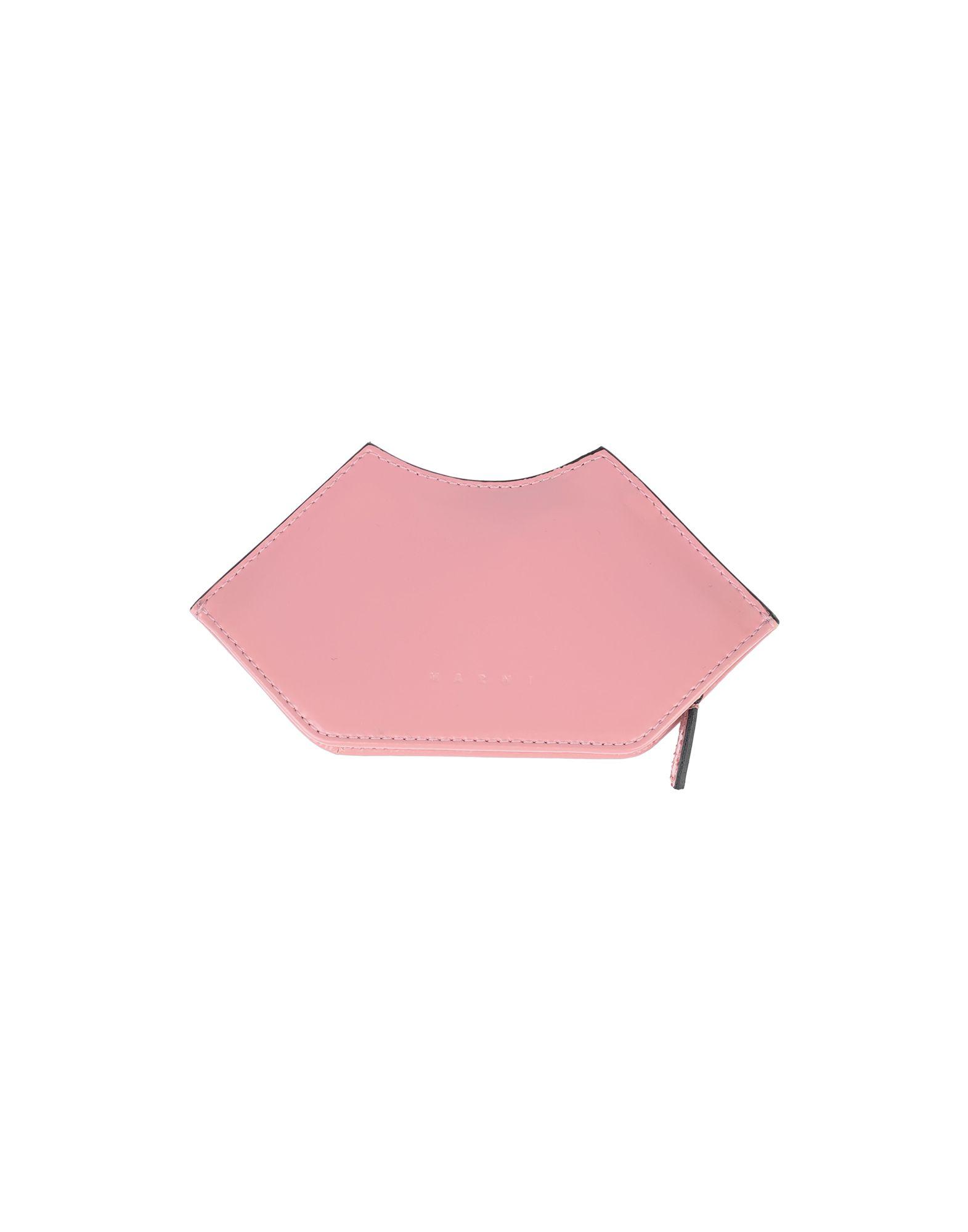 《セール開催中》MARNI レディース 小銭入れ ピンク 牛革 45% / コットン 25% / ポリウレタン 20% / 真鍮/ブラス 10%
