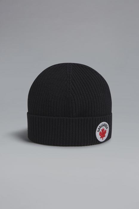 DSQUARED2 Unisex Chapeau Noir Taille III 55% Laine 45% Coton