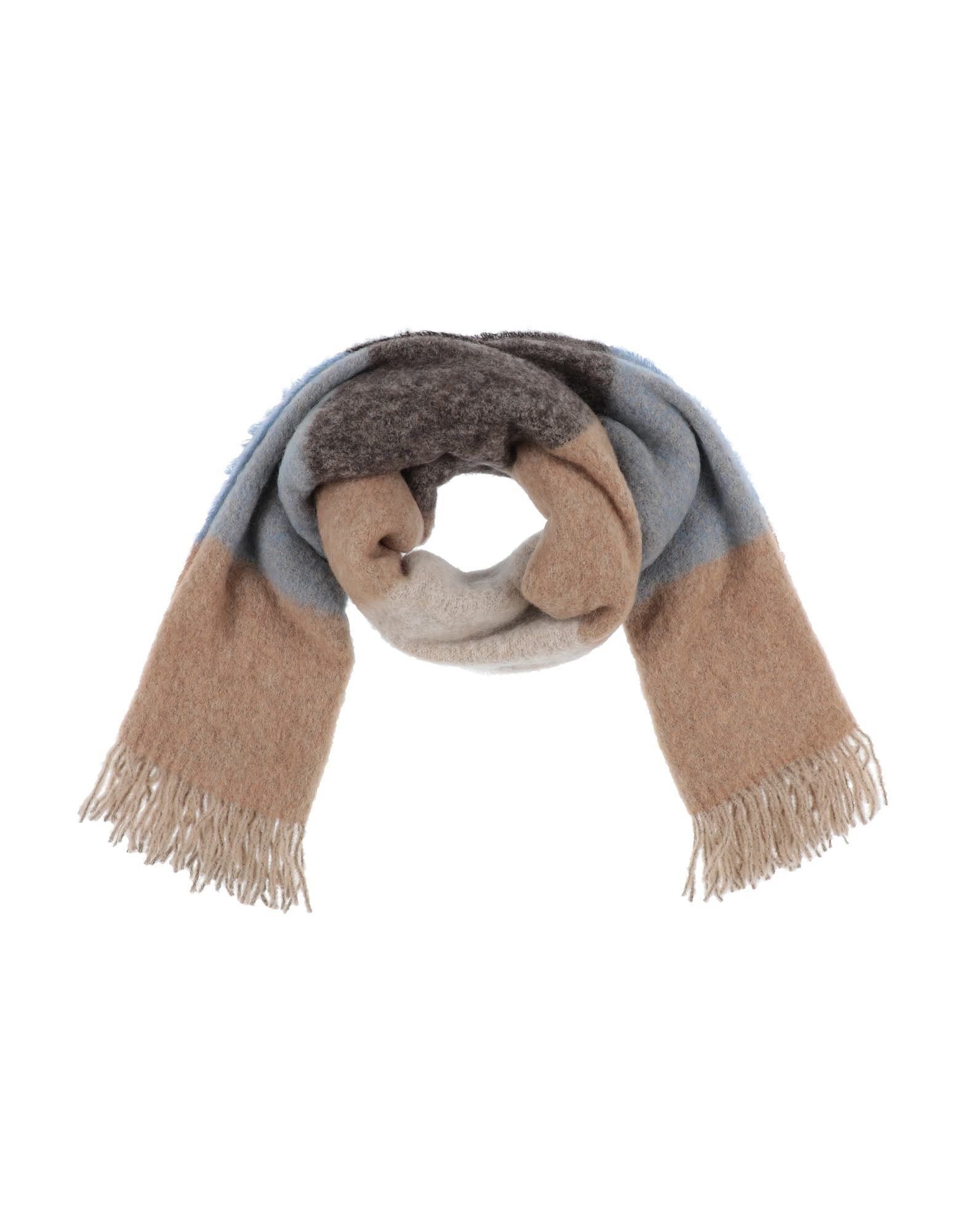 DSQUARED2 Stoles. boiled wool, no appliqués, tartan plaid. 28% Alpaca wool, 28% Mohair wool, 24% Wool, 20% Polyamide