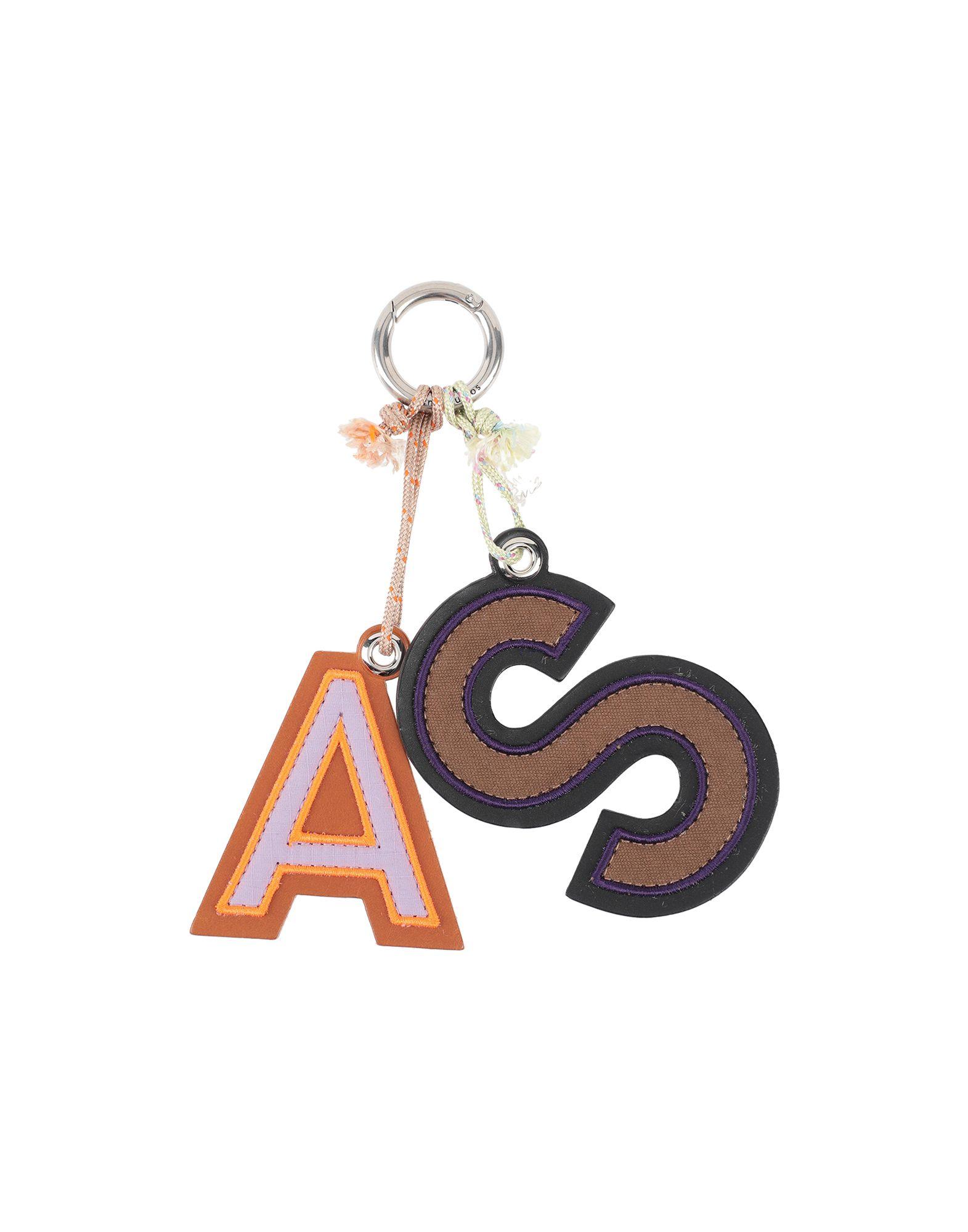 《セール開催中》ACNE STUDIOS レディース キーホルダー ブラック 革 / 紡績繊維