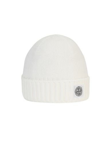 STONE ISLAND JUNIOR N04A9 Hat Man Natural White USD 128