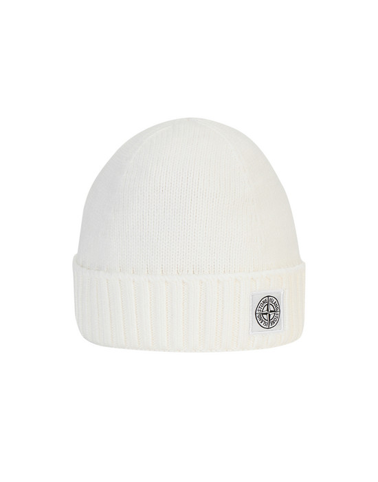 STONE ISLAND JUNIOR N04A9 Hat Man Natural White