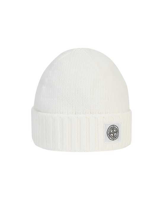 STONE ISLAND KIDS N04A9 Hat Man Natural White