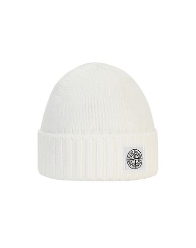STONE ISLAND BABY N04A9 Hat Man Natural White USD 84