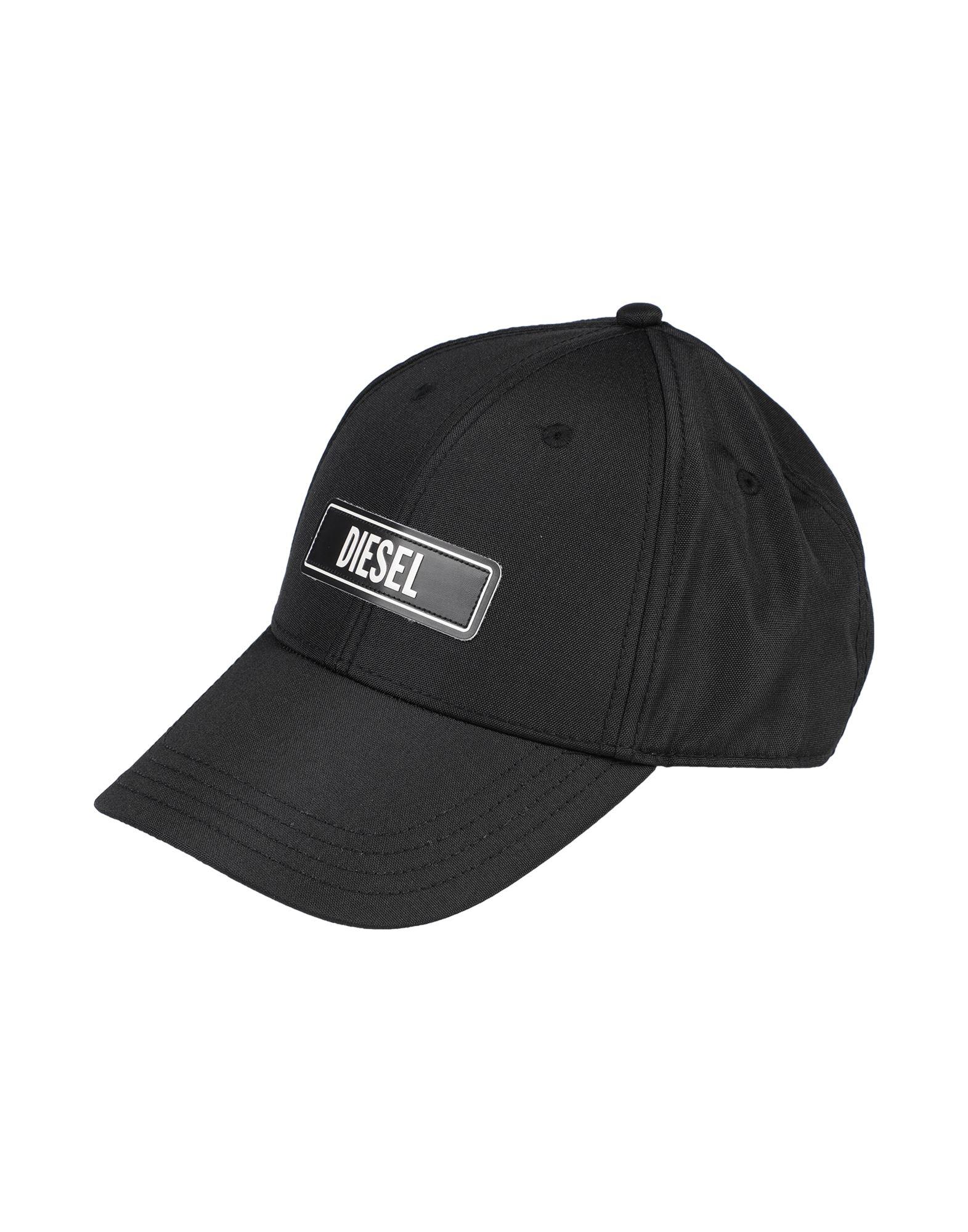《セール開催中》DIESEL メンズ 帽子 ブラック I ポリエステル 100%