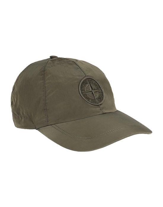 STONE ISLAND 99576 NYLON METAL 帽子 メンズ オリーブグリーン