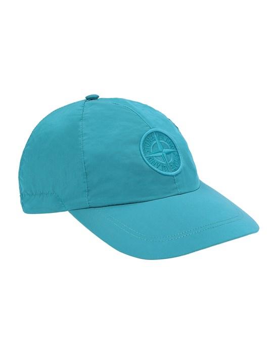 STONE ISLAND 99576 NYLON METAL Cap Man Turquoise