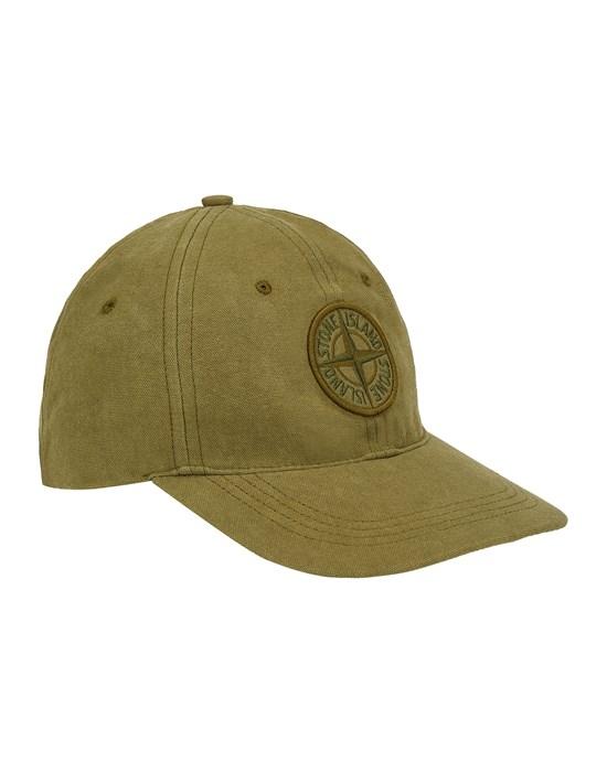 STONE ISLAND 99468 Cap Man Olive Green