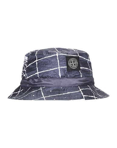 STONE ISLAND 99898 REFLECTIVE GRID ON LAMY Cap Man Blue Grey USD 238