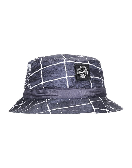 STONE ISLAND 99898 REFLECTIVE GRID ON LAMY Cap Man Blue Grey