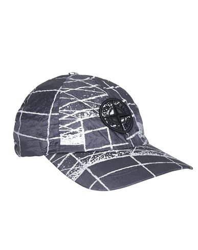 STONE ISLAND 99598 REFLECTIVE GRID ON LAMY  Cap Man Blue Grey EUR 123